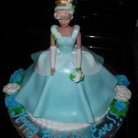 Cinderella Cake This is a Cinderella cake I did for a Birthday. Yellow cake filled with buttercream, iced with buttercream and coverd and decorated with...
