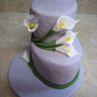 Purple Cala Lilly Cake