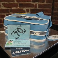 Pan Am Bag Birthday Cake I made this for my father in law's 70th birthday. He worked for Pan Am airlines most of his life and the family traveled a lot. I made...