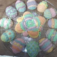 Easter Treats   all are made from easter egg mold. Each cake decorated with BC icing!!