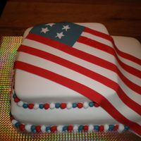 Memorial Day Cake Another flag cake for Memorial Day. Dark Chocolate WASC filled & iced w/BC & SI. I donated this cake to my local Moose lodge for...