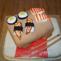 I Love Sushi Cake!! I made this cake for fun & that's exactly what I had doing it! There are definitely some imperfections, but all-in-all I think...