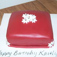 "Birthday Cake Simple cake that I threw together in 1hour for my 10 y/o son's ""crush"". WASC filled in BC & covered in fondant. All..."