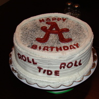 Roll Tide Roll Birthday cake for a Alabama fan.