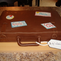 Suitcase Going away cake for a family returning to Germany after being in the States for a few years.