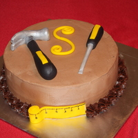 Tool Cake Chocolate cake with Chocolate buttercream Fondant/gumpaste tools
