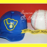 Milwaukee Brewers Baseball Hat Cake Milwaukee Brewers Baseball Hat Cake