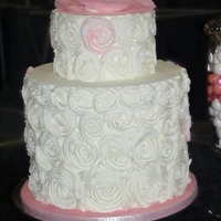 Romantic Rose Wedding Cake I made this display cake for a bridal show :-)