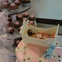 Baby Shower Cake & Cupcake Tower
