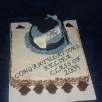 Graduation   Red Velvet cake with butter cream and fondant cap and diploma
