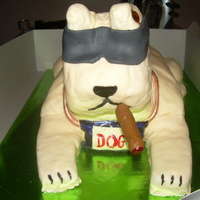 "Happy Birthday Dog  A friend wanted a cake for her boyfriends birthday party. His nick name is ""Dog"" and he always wears sunglasses. Needless to say..."