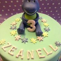 Barney Cake   My friend ordered this cake for her daughters birthday,