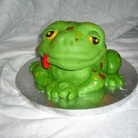 Toadally Cool Cake This was a birthday cake for my daughter's nephew. He loves frogs, so we had fun, and made him a toad.