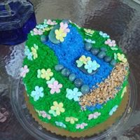 Pondless Waterfall Cake this is a pondless waterfall cake i made for my dad for fathers day to look like the waterfall in his backyard... if u dont know what a...
