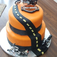 Harley Davidson Grooms Cake   This was a grooms cake I made. The bride wanted something Harley and thanks to posers cake I had a great cake. And it was a huge hit.