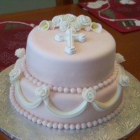Baptism Cake Made this for my niece's baptism. Inspired by another cake posted on cake central, but I can't remember who...sorry :)