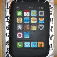 Iphone Cake iphone cake for a 40th birthday.