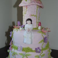 First Holly Communion this is a communion cake that was ordered based on my enchanted cake. i made a blossom white fondant instead of pink and modelled the...