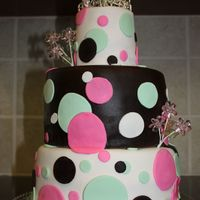 Mod Baby Shower Did a baby shower that was 3 tiers, covered in fondant with fondant decorations. This was my first time using Satin Ice and Fondarific and...
