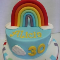 Rainbow Cake  My cake for my 30th (next milestone someone else can make it for me!!!). I asked my friends what represented me and they all said rainbow (...