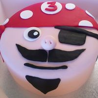 Mario The Pirate  After I finished this guy I thought he looked a little like Mario! Pirate face for a 3rd birthday. Chocolate mud with chocolate ganche...