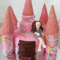 First Fairy Princess Castle  The birthday girl was thrilled with this cake however I know I rushed it towards the end. It was my third cake this week and a freebie so...