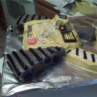 Wall - E Cake Wall - E cake for 8 year old boy's birthday. Cut and pieced together with frosting and then used candy and cookies and some gum for...