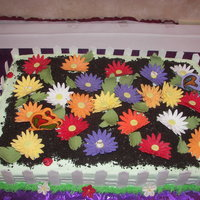 Daisy Cake For A Town Mixer