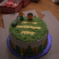 Birthday Cake For A Friend That Mows Lawns