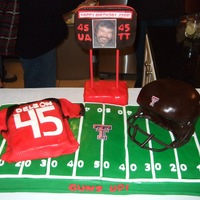 Texas Tech College Football Cake This cake gave me some problems. The helmet was a fiasco, but it was my first one and I know the next one will be better. The face mask...