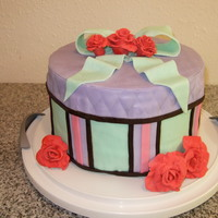 Hat Box Cake My 3rd fondant cake. I liked the colors together but I'm still learning how to apply and work with fondant. I was happy about how the...