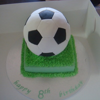 Soccer Ball Cake My first attempt to a soccer ball cake and very proud of it :) both of the cakes a chocolate cake filled with chocolate ganache.