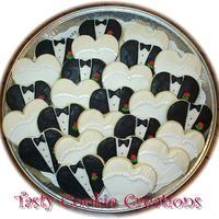 Bride And Groom Platter Decorated in RI. These were ordered for a Bridal Shower.