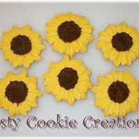Sunflower Cookies Decorated w/RI. These cookies were favors for a bridal shower.