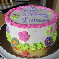 Flower Cake marble cake with non-dairy whipped icing...