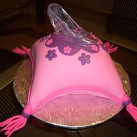 Pillow Cake The cake that holds the glass slipper....=-)My first attempt at a pillow cake.