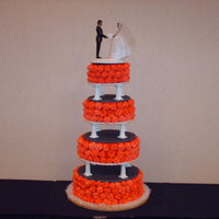 Valentine's Day Wedding This cake was done for a Valentines Wedding. Wedding in black and red. Over 300 royal icing roses.
