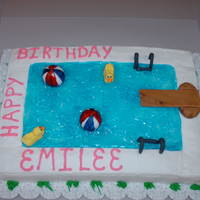 Swimming Pool Birthday Party   Swimming pool birthday cake by Sugar Bakers Bakery in Conyers, GA.