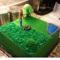 Landscaping Super Fun Cake. A co-worker asked me to do a bday cake for his dad who wants to retire into landscaping. TFL