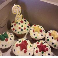 Primary Colors Bday Cupcakes