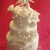 All White Wedding all fondant