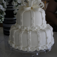 Wedding Cake! 6 inch and 10 inch. All fondant.