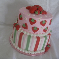 Strawberry Cake For someone that happens to love strawberries.