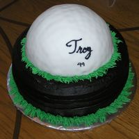 Golf Ball Cake This is a golf ball cake I made for a family member's 49th bday. It's chocolate WASC cake with dark chocolate buttercream. The...
