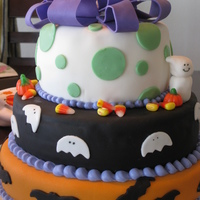Halloween Birthday For Co-Worker This cake was the hardest one I ever made....a lot of work! Mocha rum cake with white chocolate buttercream and covered in fondant. My...