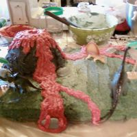 Volcano I am a amature cake maker but i did this one for a friends sons 5th birthday