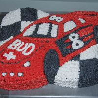 Racecar this was made for my sons 11th birthday. his favorite driver is earnhardt jr.