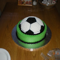 Simple Soccer Cake One of the simpler cakes I have done in ages. I was so thankful to have a break from wedding cakes for a bit and now I remember how much...