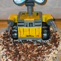 Wall-E Cake For Hunter I made this cake for my son's 3rd Bday. I had a few engineering issues, but he loved it anyway.
