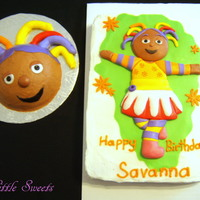 Upsy Daisy Upsy Daisy cake and smash cake for a first birthday.